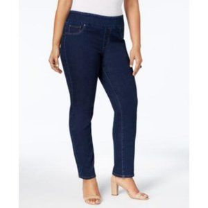 Charter Club Plus Pull-On Mid Rise Skinny Jeans